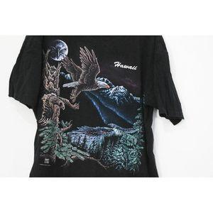 Vintage Shirts - Vintage Hawaii Eagle Forest Moon T Shirt